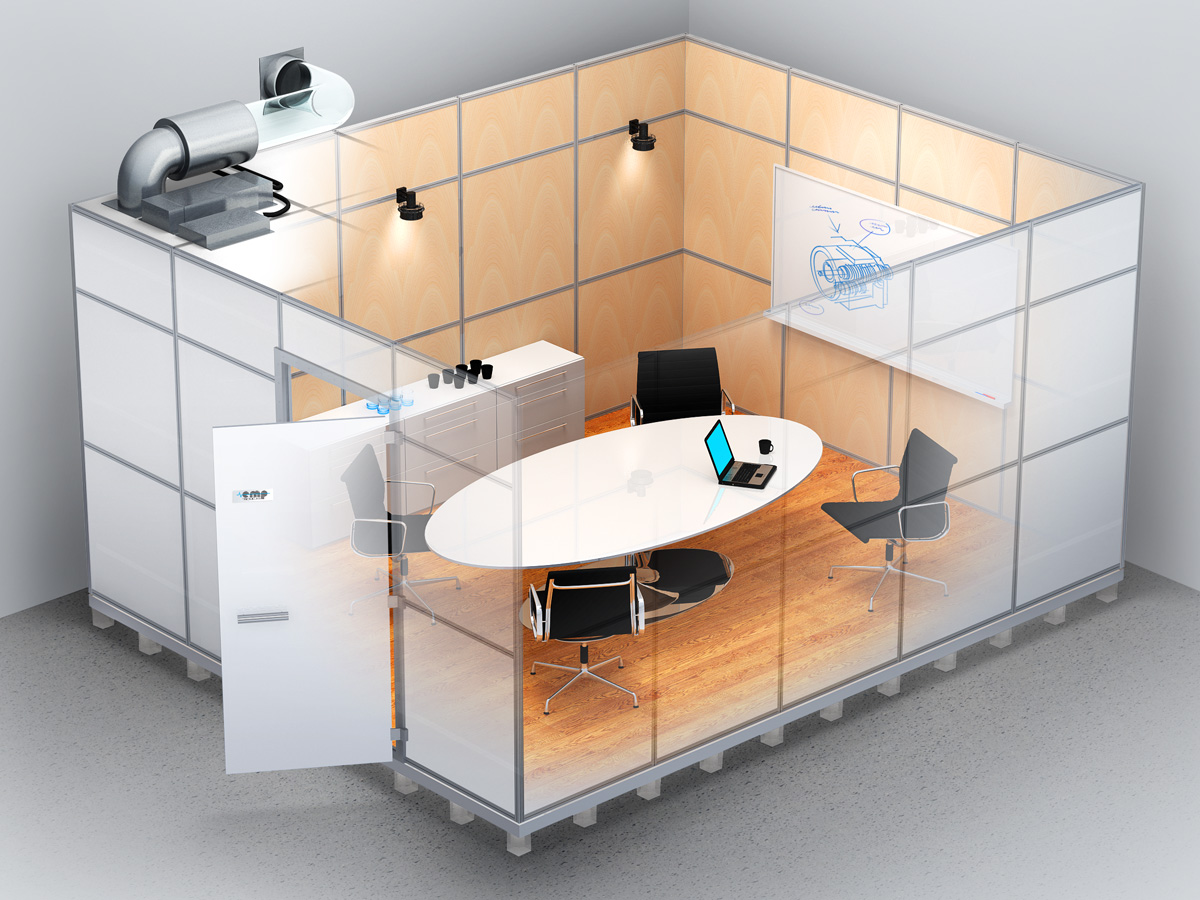 Secure meeting room by Emp-tronic